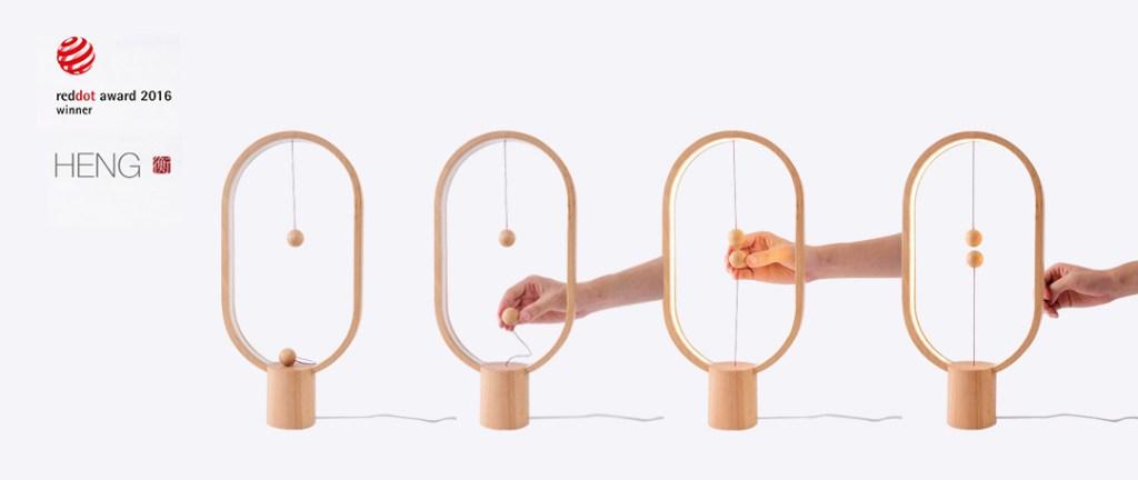 werking heng balance lamp bijzonder relatiegeschenk magnetisch