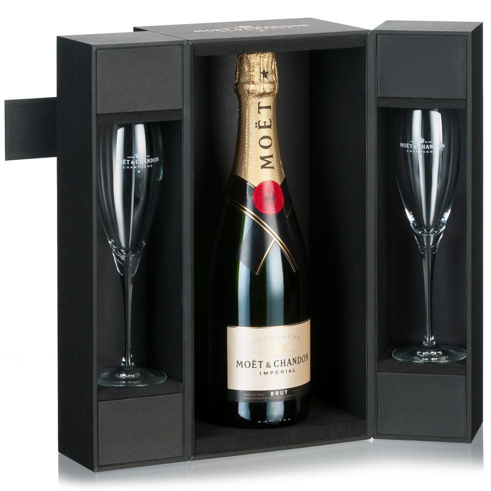 Champagne cadeau pakket moet chandon imperial gift box
