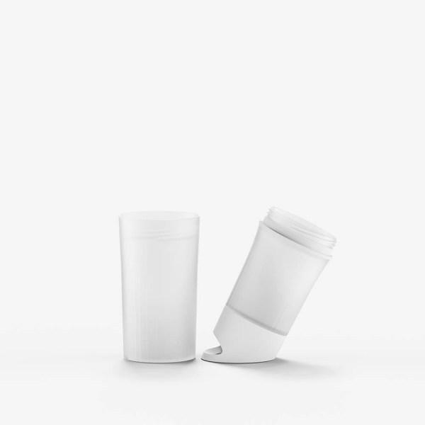 BE O bottle wit bedrukt onderdelen