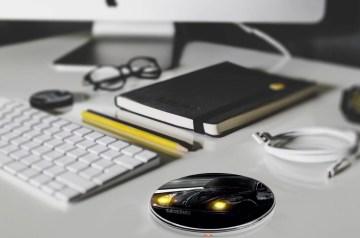 gadget draadloze oplader - led bedrukt met logo