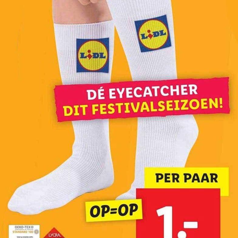 logo sokken lidl reclame aanbieding folder 1 euro