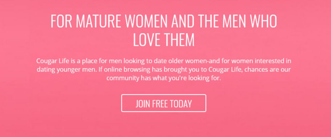 Cougar Life join free button