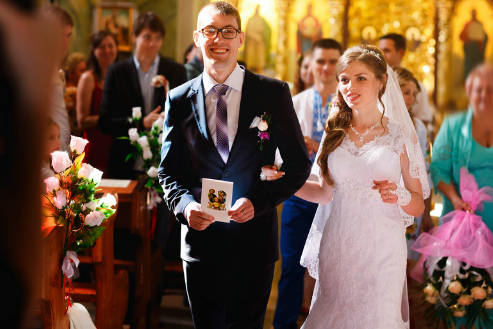 Wedding with foreign man and Ukrainian women