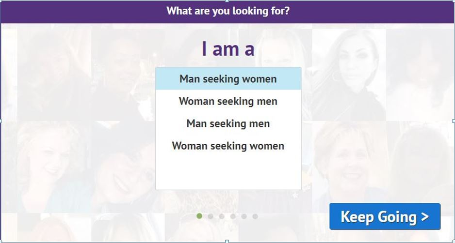 Step 1. Create your Account at OurTime dating site