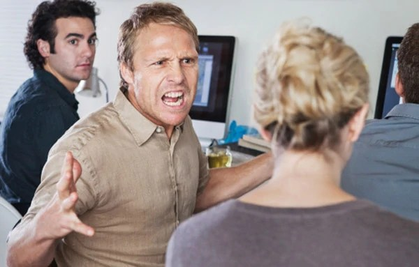 Dealing with the angry man