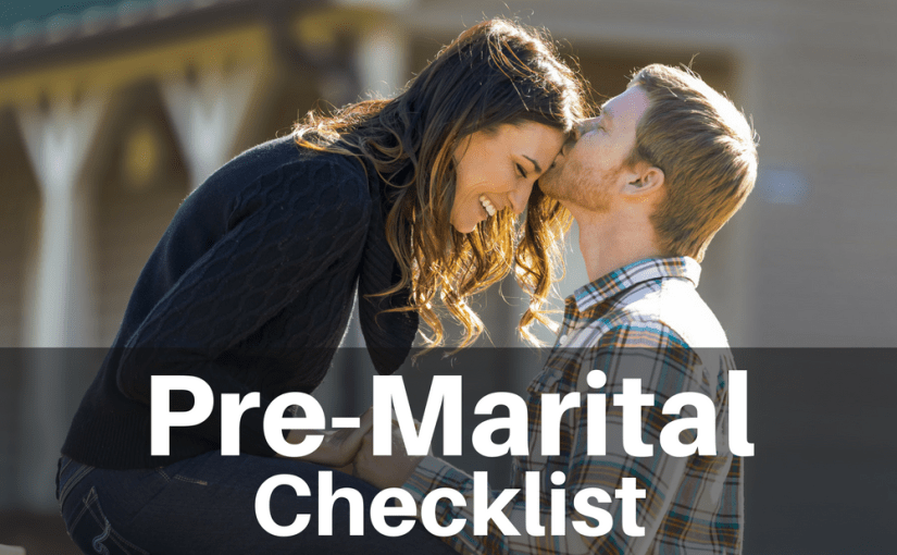 "Getting married is the easy part. Staying married takes a lot of work. Take some of the guessing game out and take a look at my ""Premarital Checklist."" If you are a married-couple-to-be or a couple that's been married for years, you will find questions on my checklist that will help you get to know your mate better!"