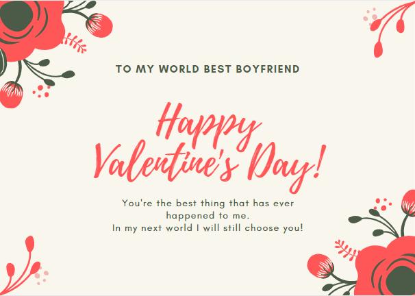 best happy valentine's day messages for boyfriend
