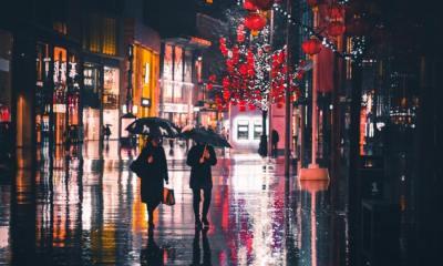 on a cold raining night