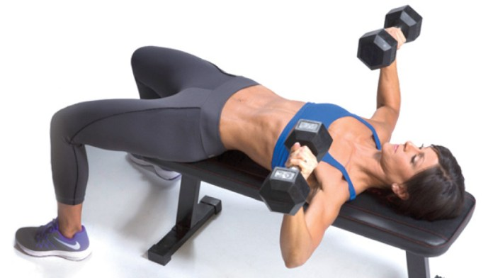 chest press p with dmb bells