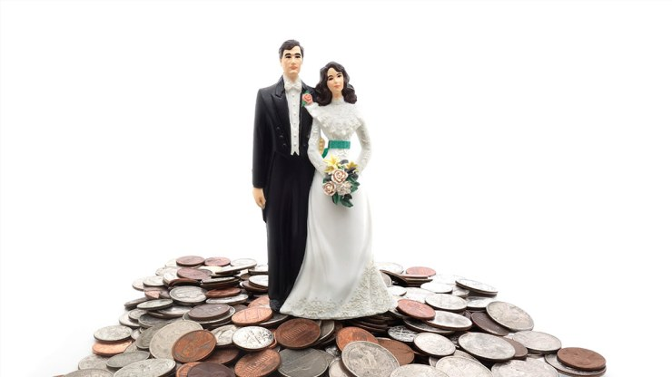 married couples on top of money
