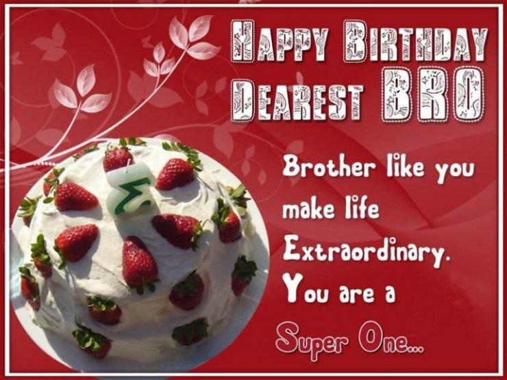 HAPPY BIRTHDAY DEAREST BRO