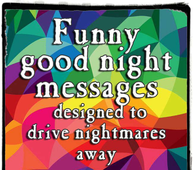 funny night wishes