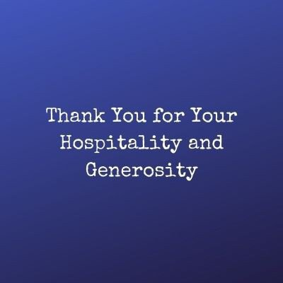 thank you message for party host