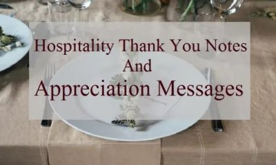 Thank You For Your Hospitality and Generosity Messages