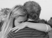 sad hug