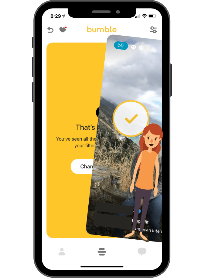 Using Bumble to make friends