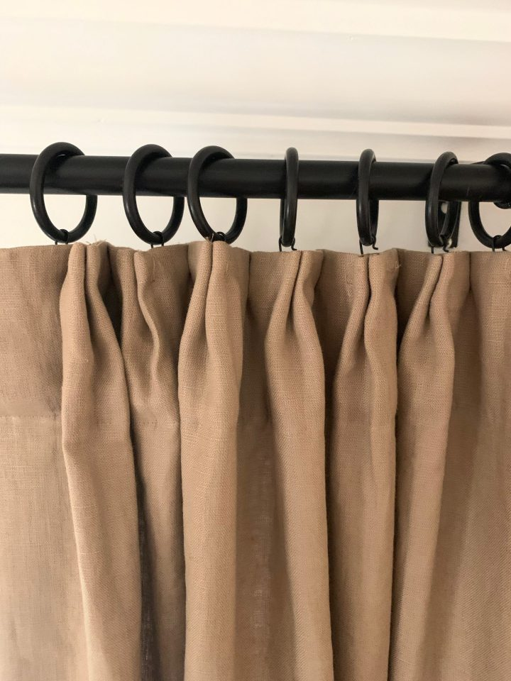 DIY Tailored Pleat Curtains