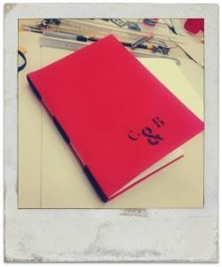 Mi cuaderno A5 cosido con la técnica de long stich