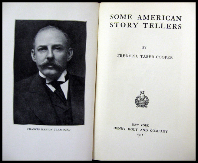 frederick taber cooper, some american story tellers
