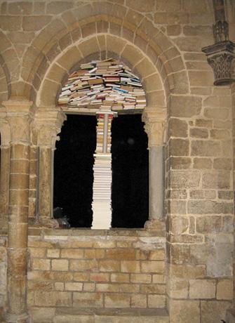 arco románico, libros, jan reymond