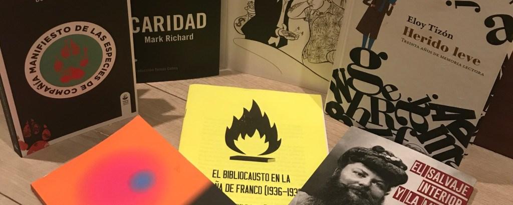 Abril 2019: sobres blancos y demasiados libros
