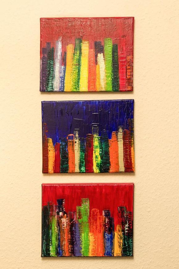Bildgruppe von Sabine Flatau gemalt