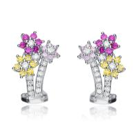 Flawless cubic Sterling Silver Multi-colored Cubic ...