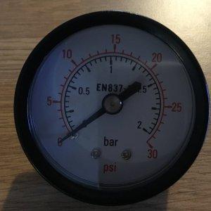 Endurance Filter Pressure Gauge 1/8in Back Mount EFI010