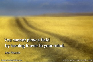 20 Relax and Succeed - You cannot plow a field