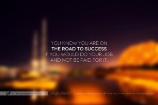 65b Relax and Succeed - You know you are on the road to success