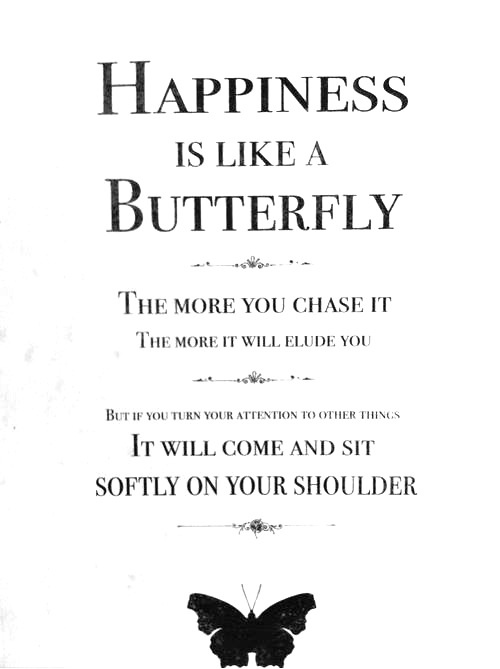 66 Relax and Succeed - Happiness is like a butterfly