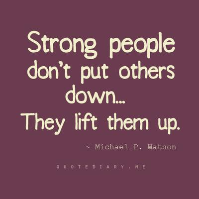 132 Relax and Succeed - Strong people don't put others down