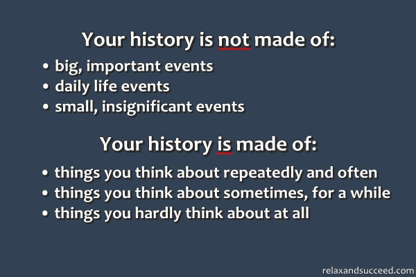 147 Relax and Succeed - Your history is not made of