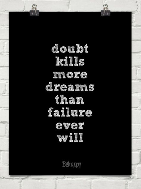 253 Relax and Succeed - Doubt kills more dreams