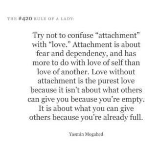 629 Relax and Succeed - try not to confuse attachment with love