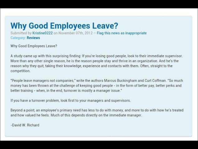 648 Relax and Succeed -Why good employees leave