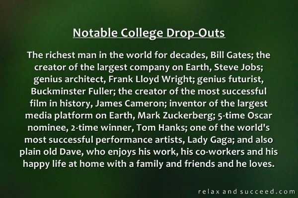 903 Relax and Succeed - Notable college dropouts