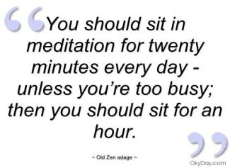 904 Relax and Succeed - You should sit in meditation