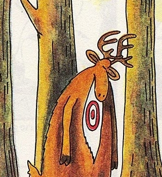 1217 Relax and Succeed - Gary Larson Deer Birthmark Partial