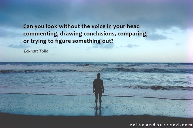 1351 Relax and Succeed - Can you look without the voice in your head