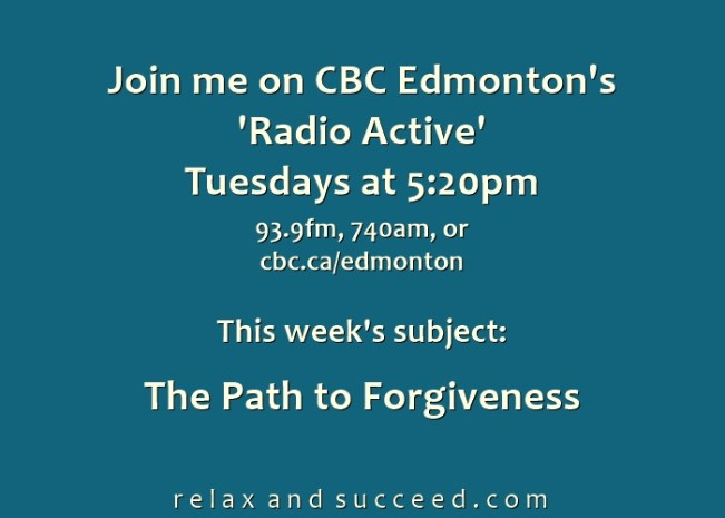 1421 CBC Radio Active Weekly Announcement - The Path to Forgiveness