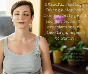 ---Mindful Pausing---Taking a step back