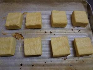 トースターで両面4分焼く