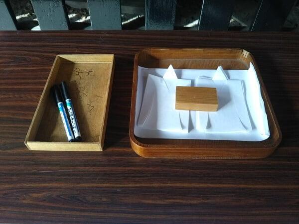 大祓式申込の形代とペンの写真