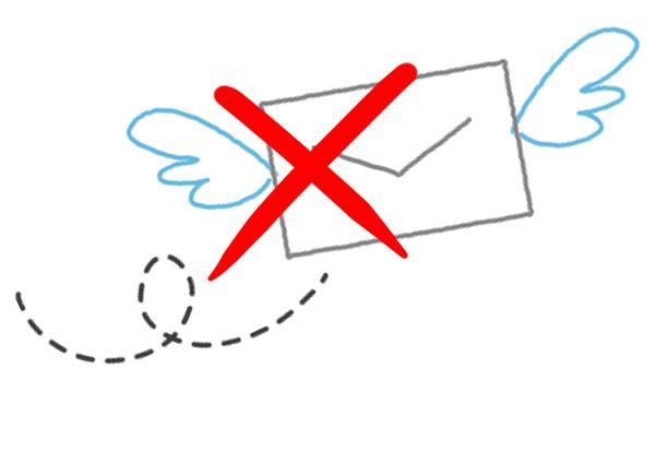 メールが送れないイラスト