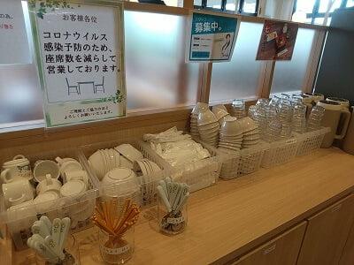 うなぎの駅の子供用食器もある写真