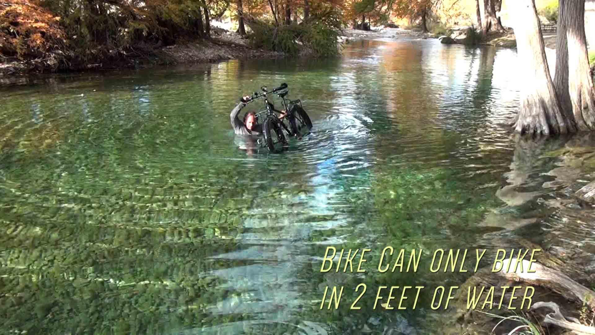 Underwater River Bike Action  R e l a x e d C h a o s