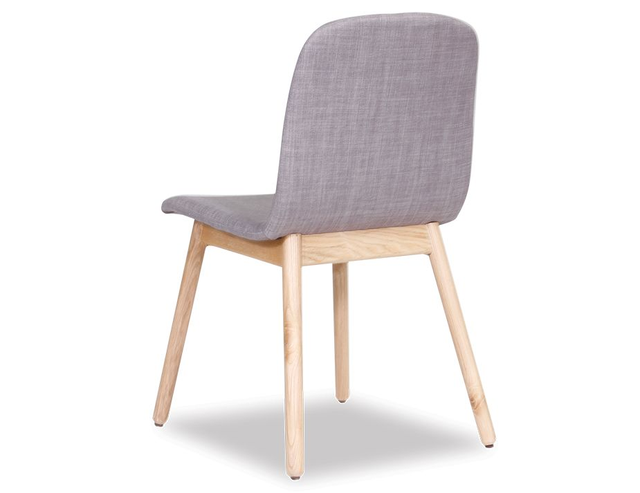 Scandinavian Timber Grey Padded Dining Chair