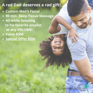 medi spa for men Calgary happy father playing with daughter