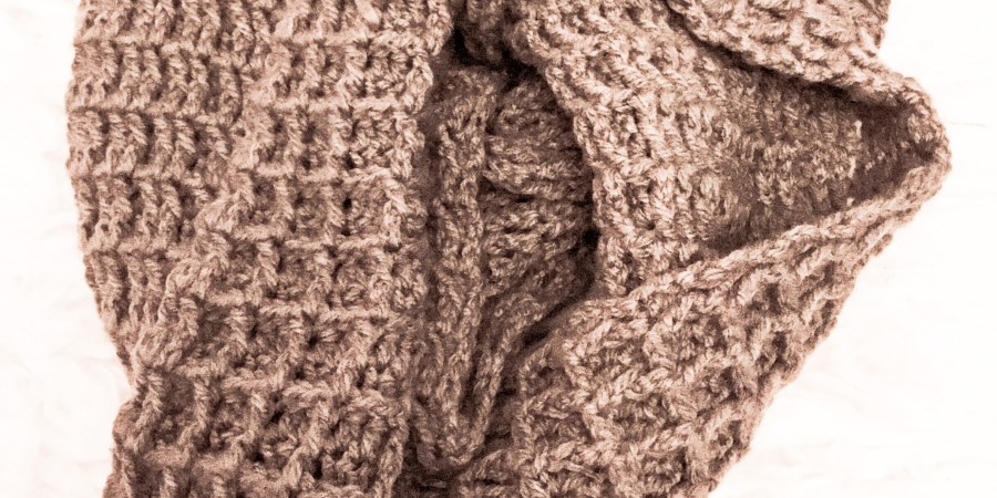 Chunky Waffle Infinity Scarf Free Pattern Relaxing With Yarn